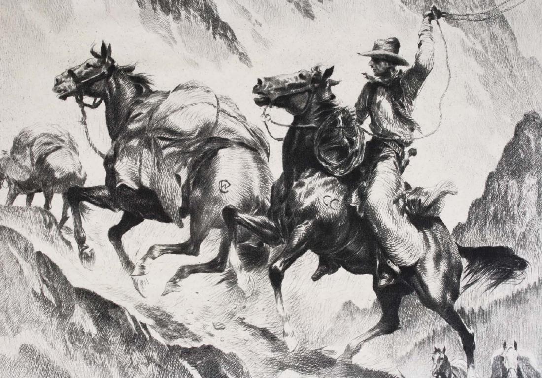 1945 Reinhold H Palenske drypoint etching - 2