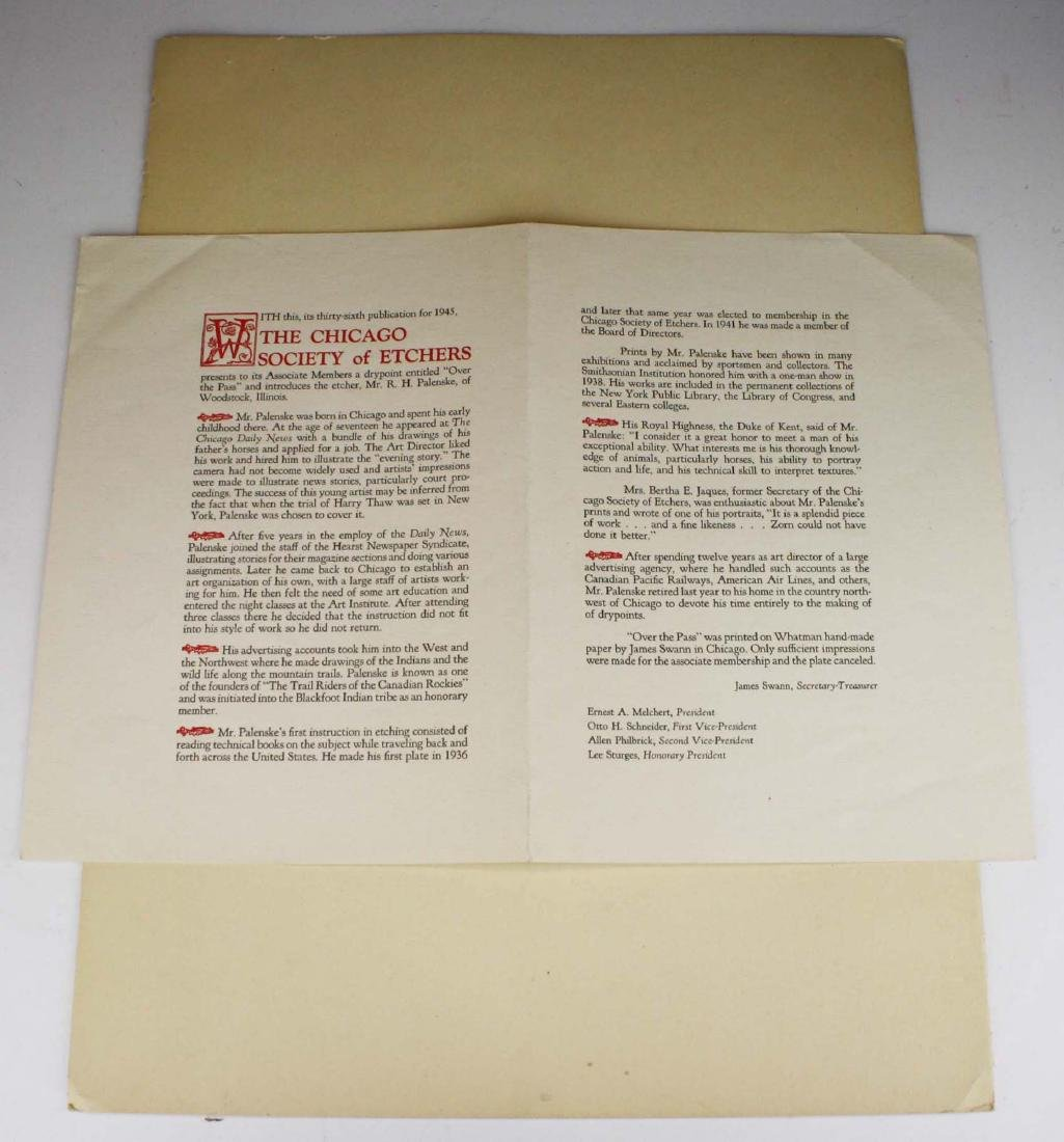 1945 Reinhold H Palenske drypoint etching - 3