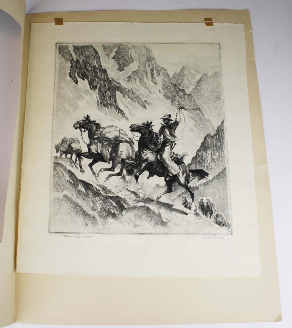 1945 Reinhold H Palenske drypoint etching - 4