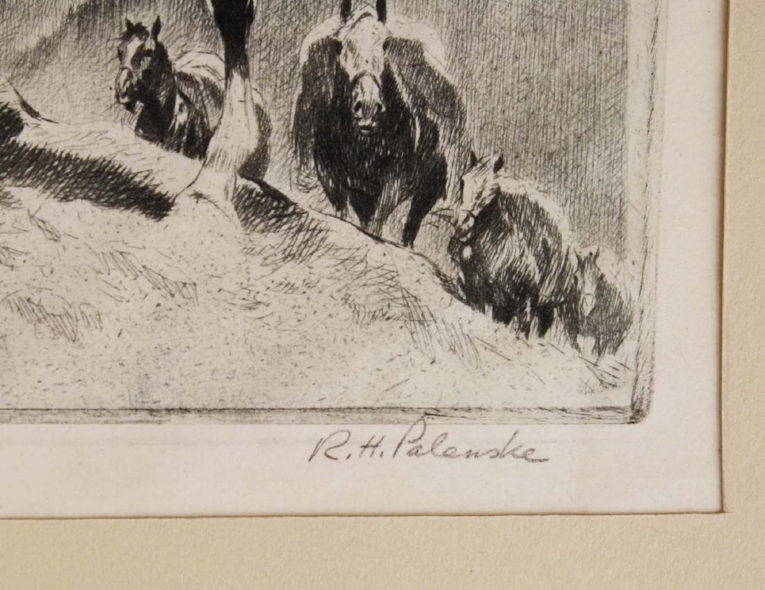 1945 Reinhold H Palenske drypoint etching - 5