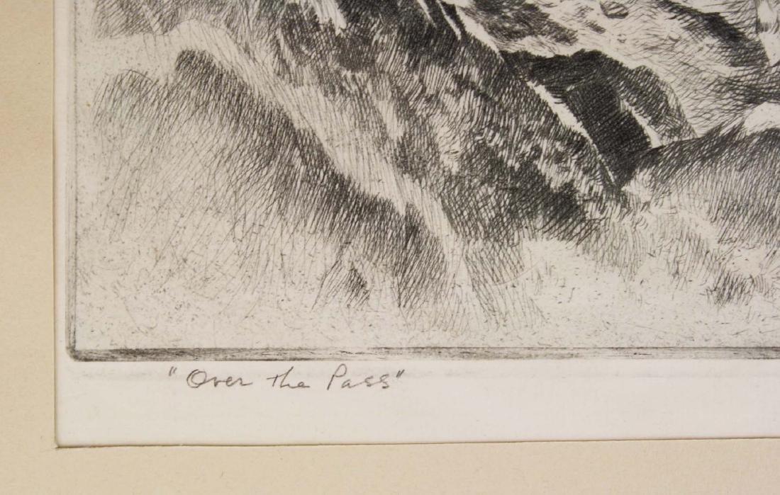 1945 Reinhold H Palenske drypoint etching - 6