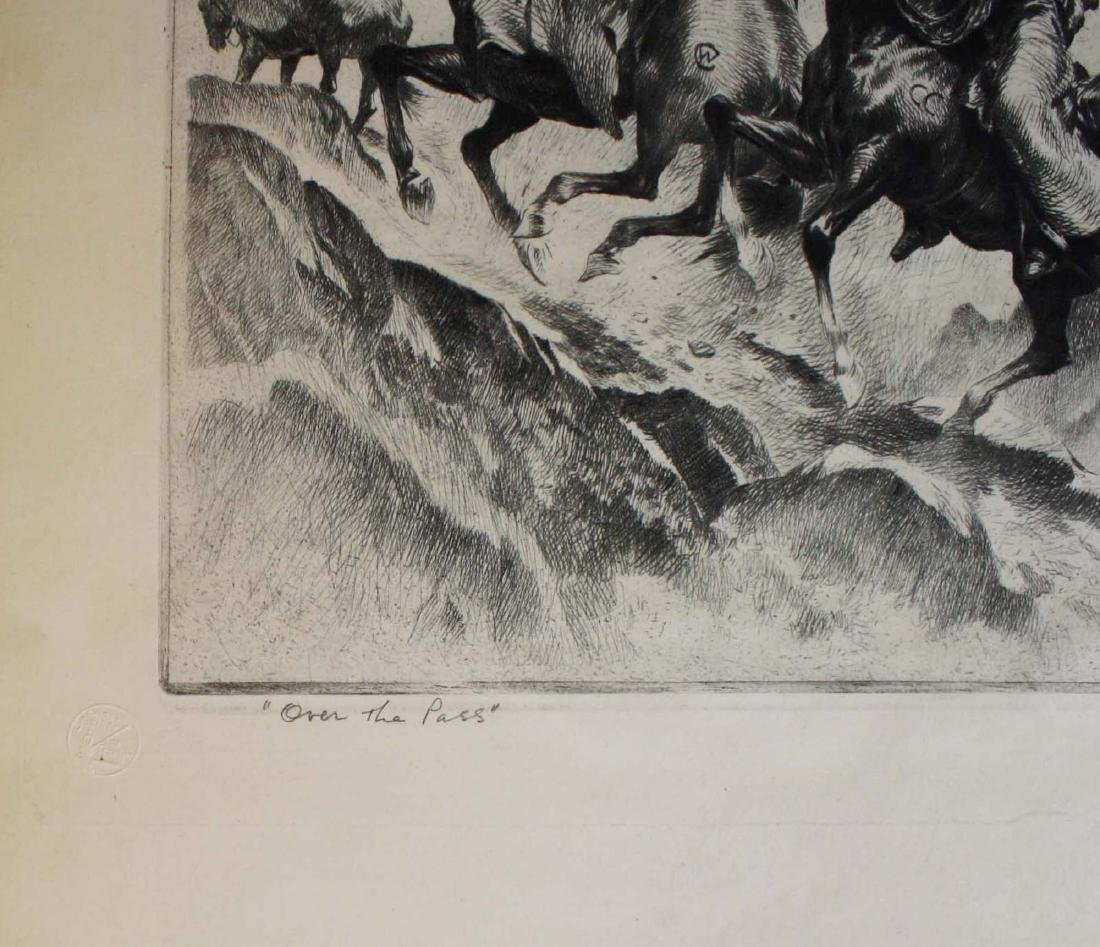 1945 Reinhold H Palenske drypoint etching - 7