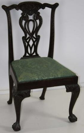 Colonial Revival Chippendale side chair
