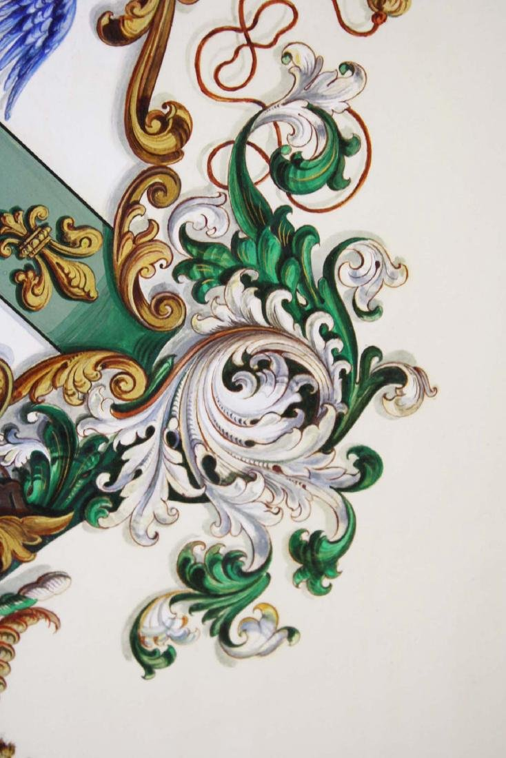Tiffany and Co hand painted Coat of Arms Batcheller - 6