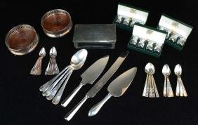 group of silverplated and sterling mounted articles