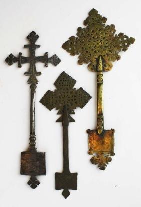 Ethiopian Coptic hand crosses (3 pcs)