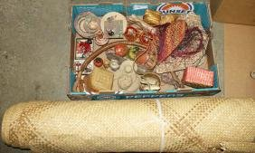 ethnographic pottery, fiber arts, miniatures
