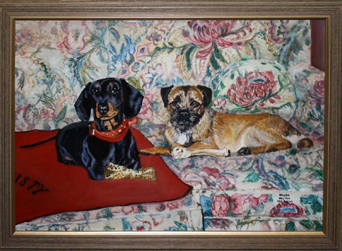 Helen Wilson Sherman (American 1913-2005) Two Dogs - 2