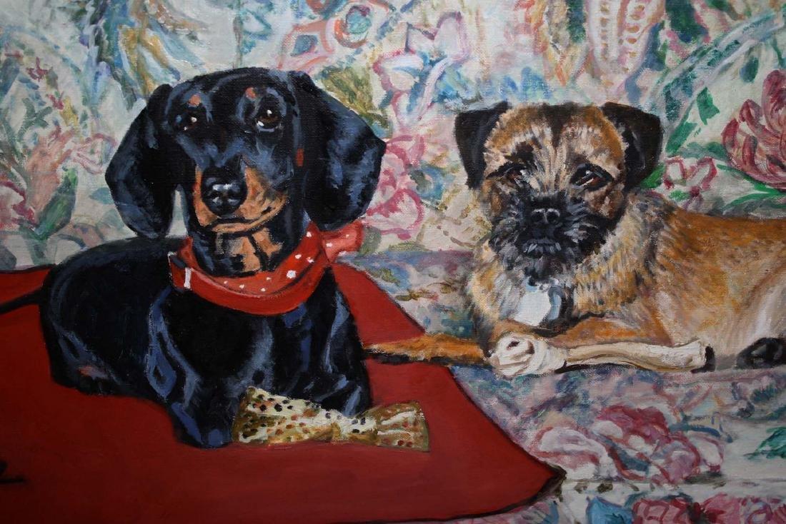 Helen Wilson Sherman (American 1913-2005) Two Dogs - 4