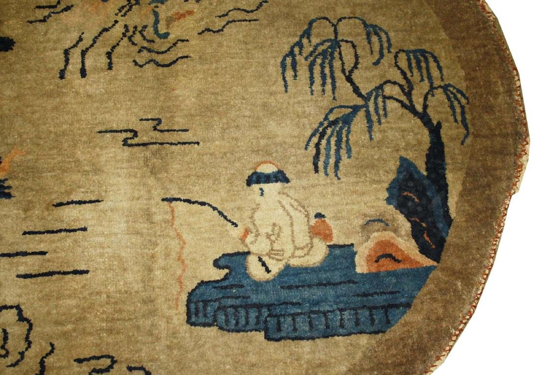 early 20th c Chinese round carpet - 2