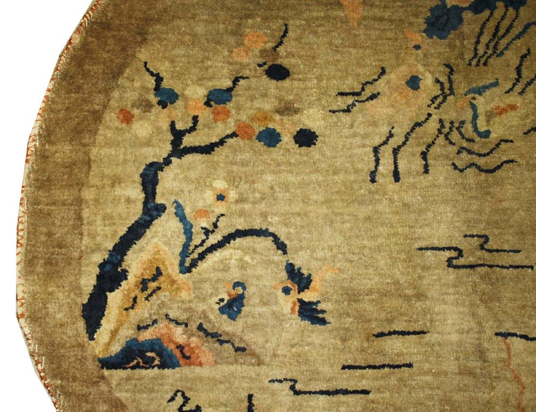 early 20th c Chinese round carpet - 3