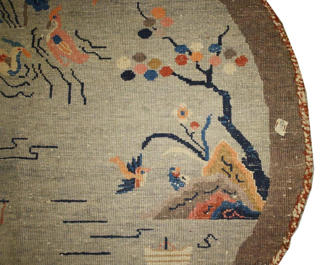early 20th c Chinese round carpet - 5