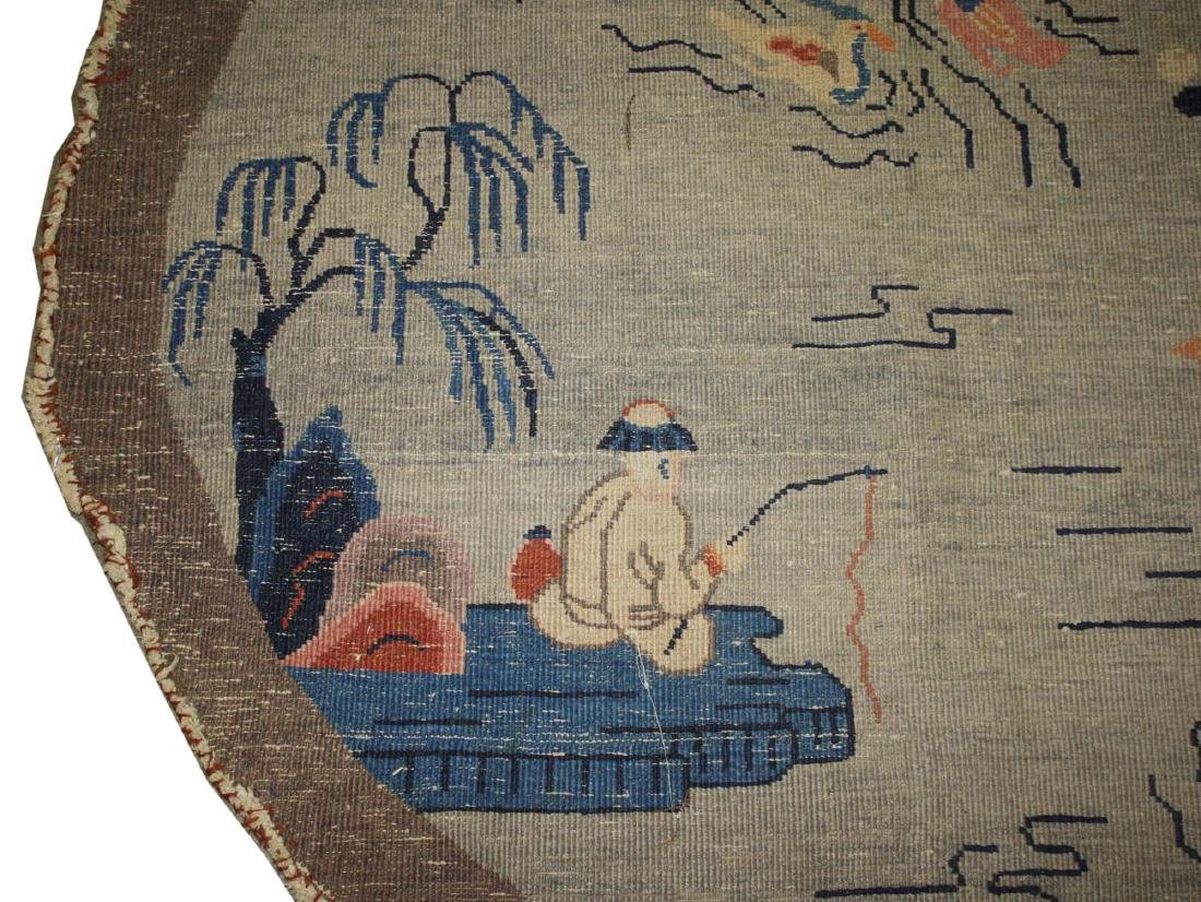 early 20th c Chinese round carpet - 7