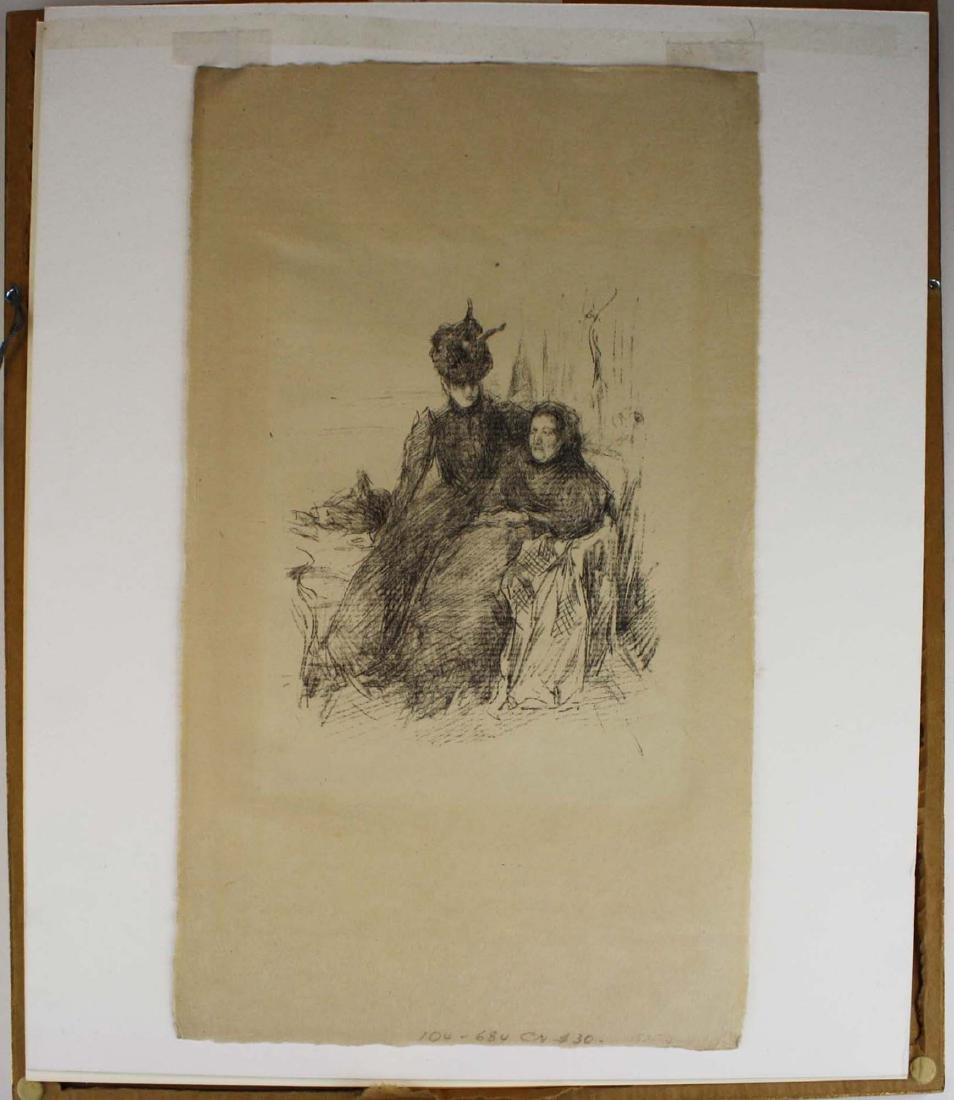 late 19th c lithograph signed CN