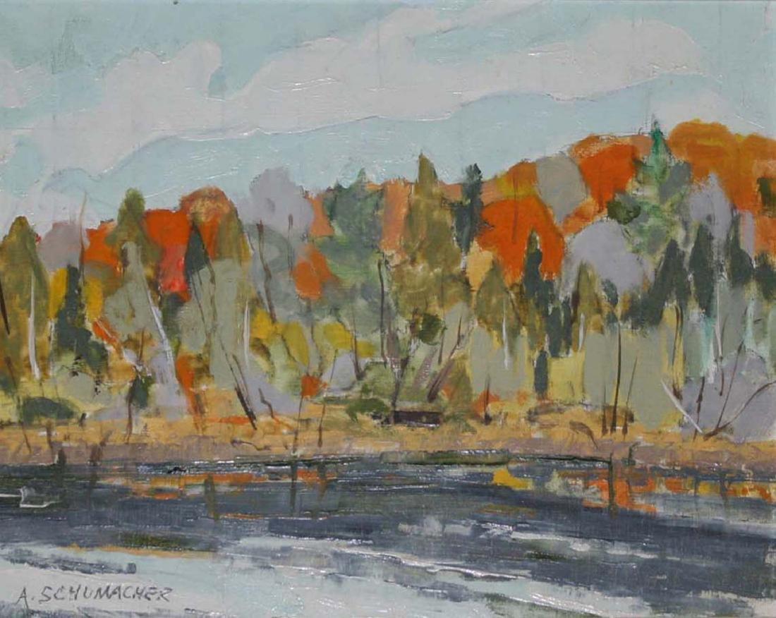 Arthur Schumacher (Vermont 20th c) From Diem's Duck
