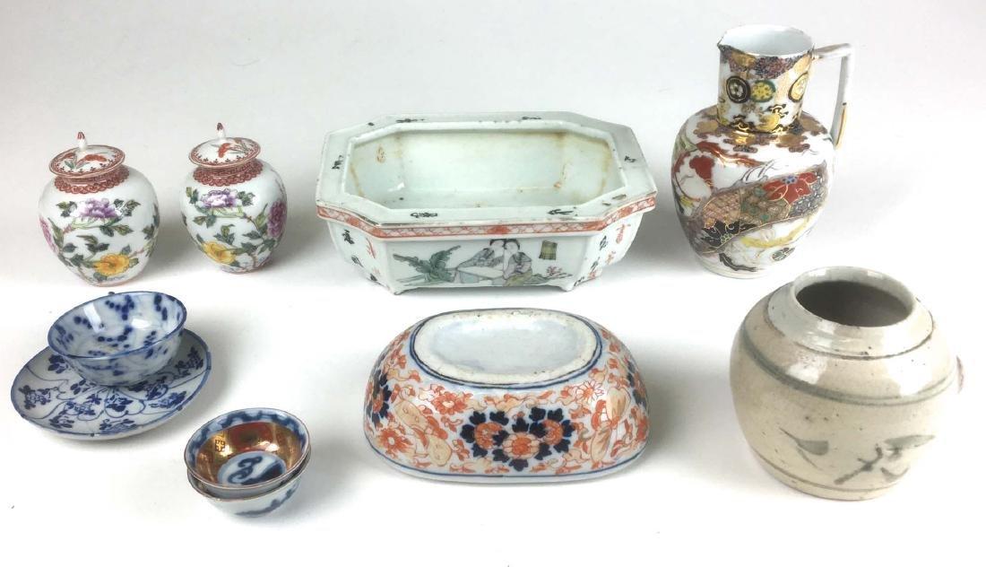 Lot of 10 Chinese & Asian ceramics.