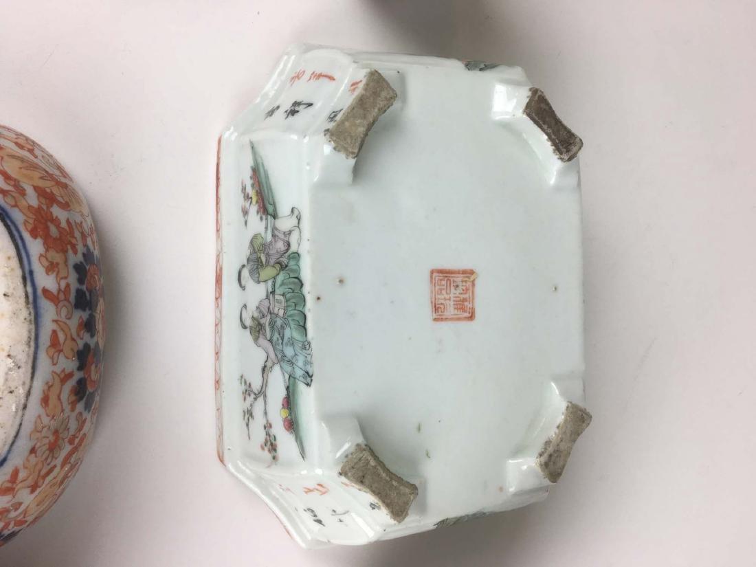 Lot of 10 Chinese & Asian ceramics. - 2