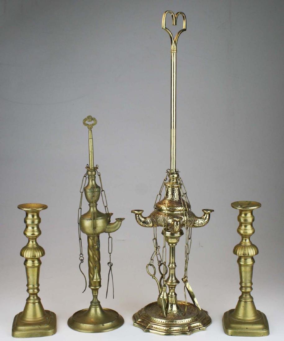 Turkish oil lamps & grass candlesticks