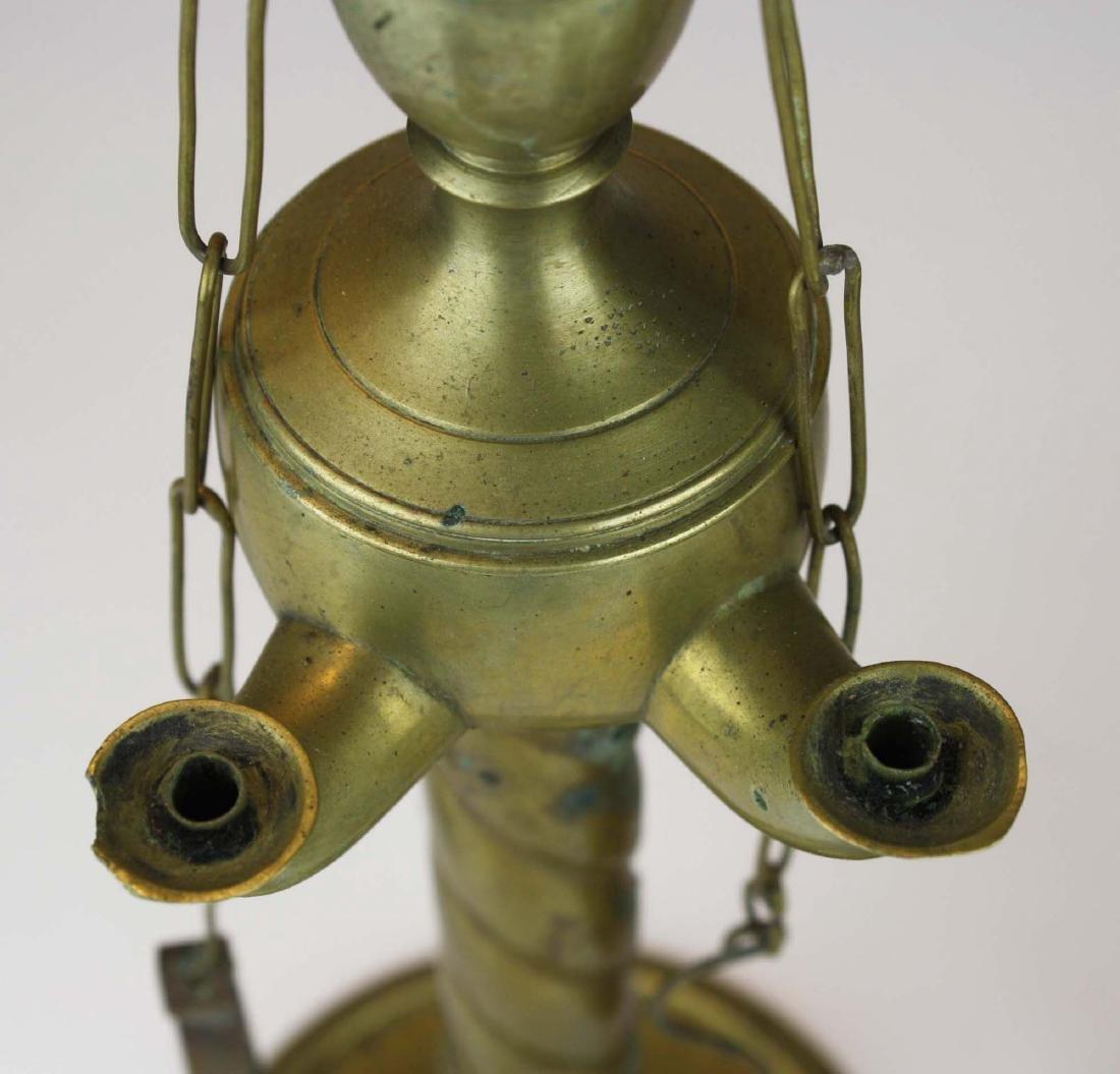 Turkish oil lamps & grass candlesticks - 3