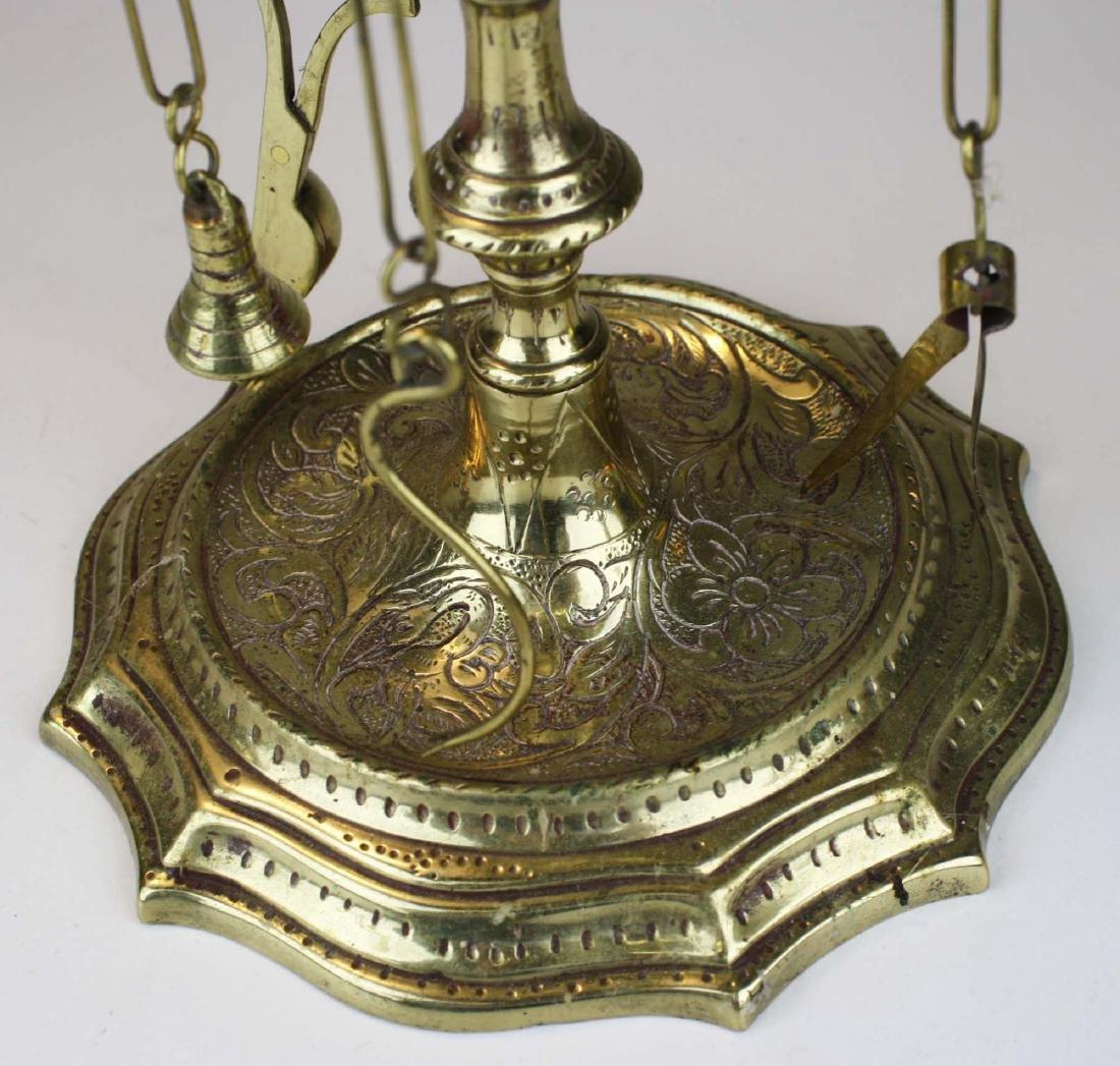 Turkish oil lamps & grass candlesticks - 4