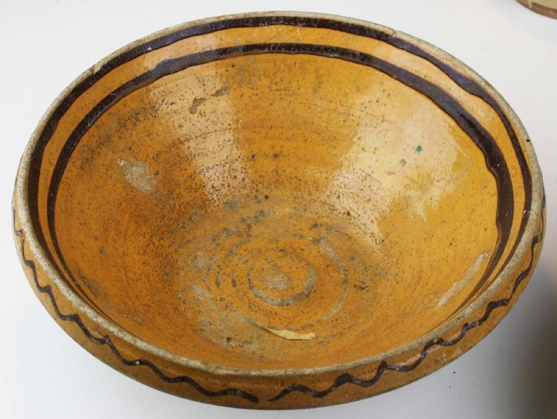 19th c redware & stoneware pottery - 2