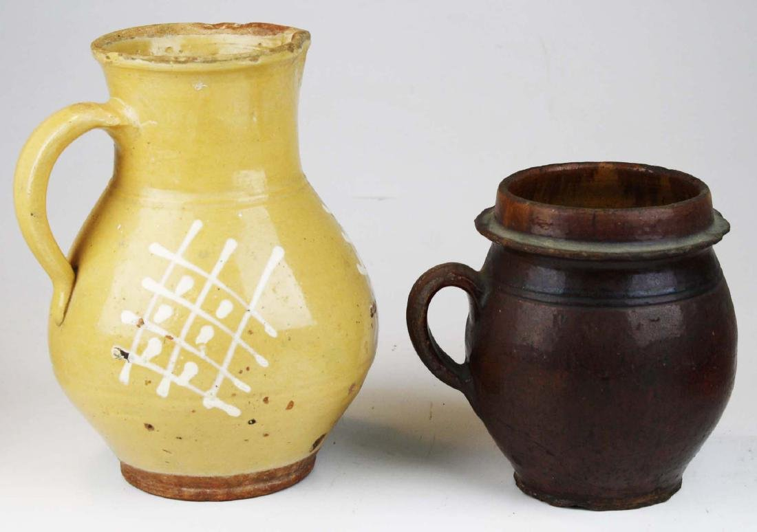 19th c redware & stoneware pottery - 4