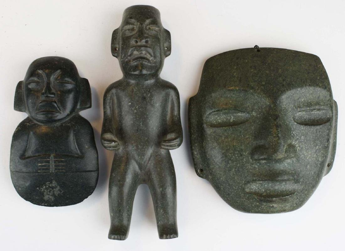 20th c Meso-American stone carvings (3 pcs)