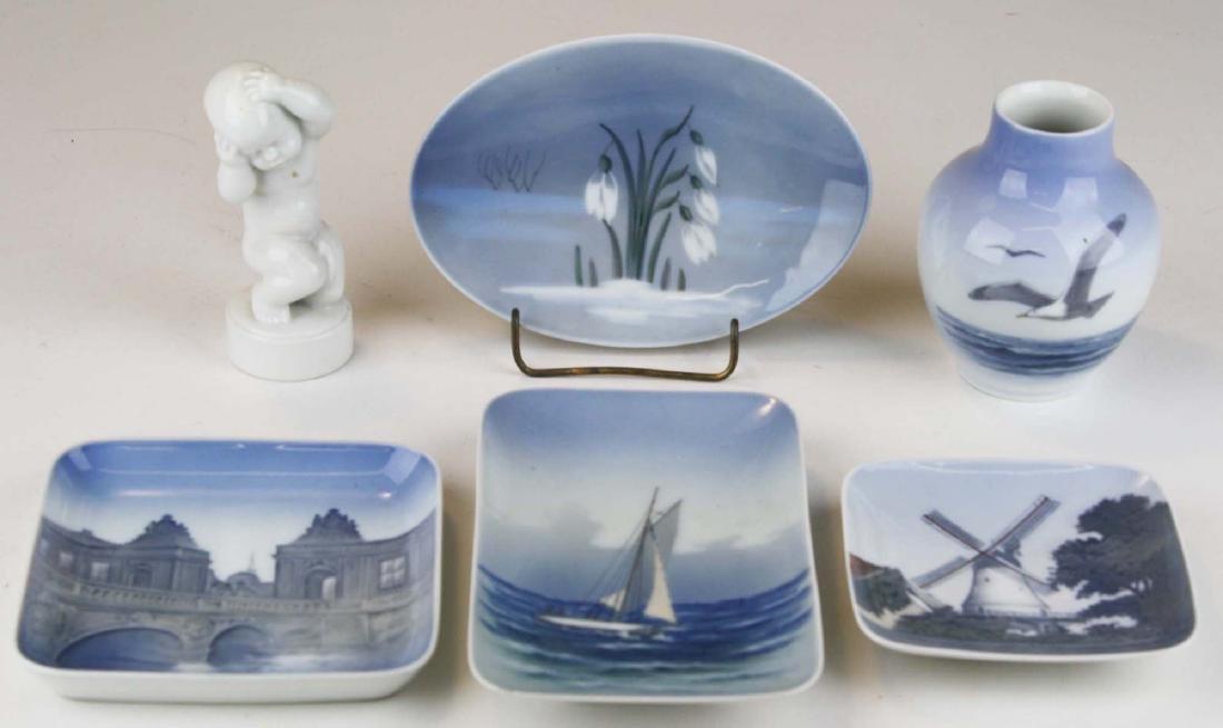 6 pcs Danish porcelain including Bing and Grondahl