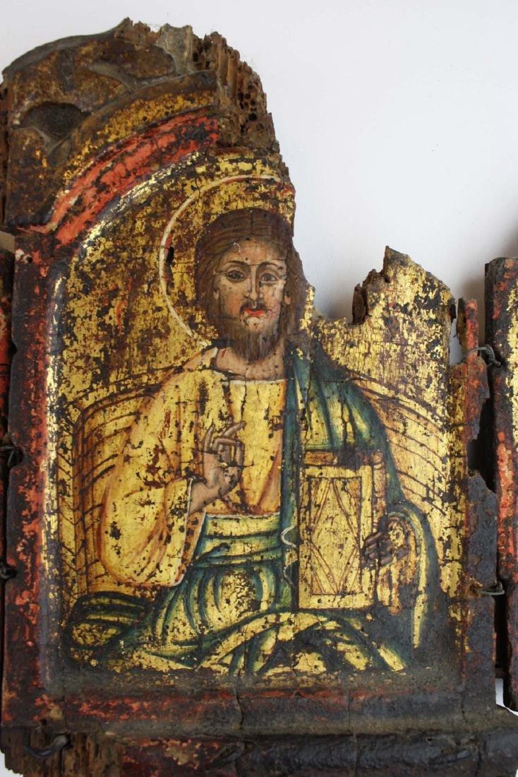 18th c Greek Orthodox tryptych icon - 5