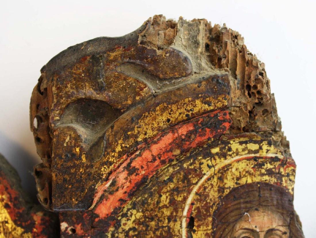 18th c Greek Orthodox tryptych icon - 7