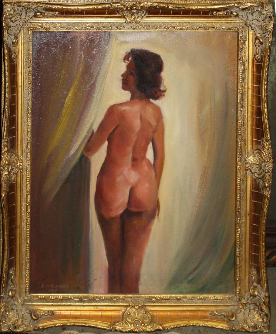 Joseph Mueller (American 1924-2007) Nude in reverse