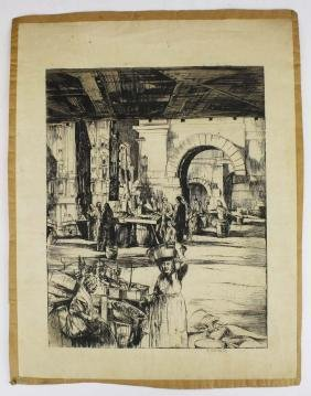 """Earl Horter (1881- 1940) print """" The Market"""""""