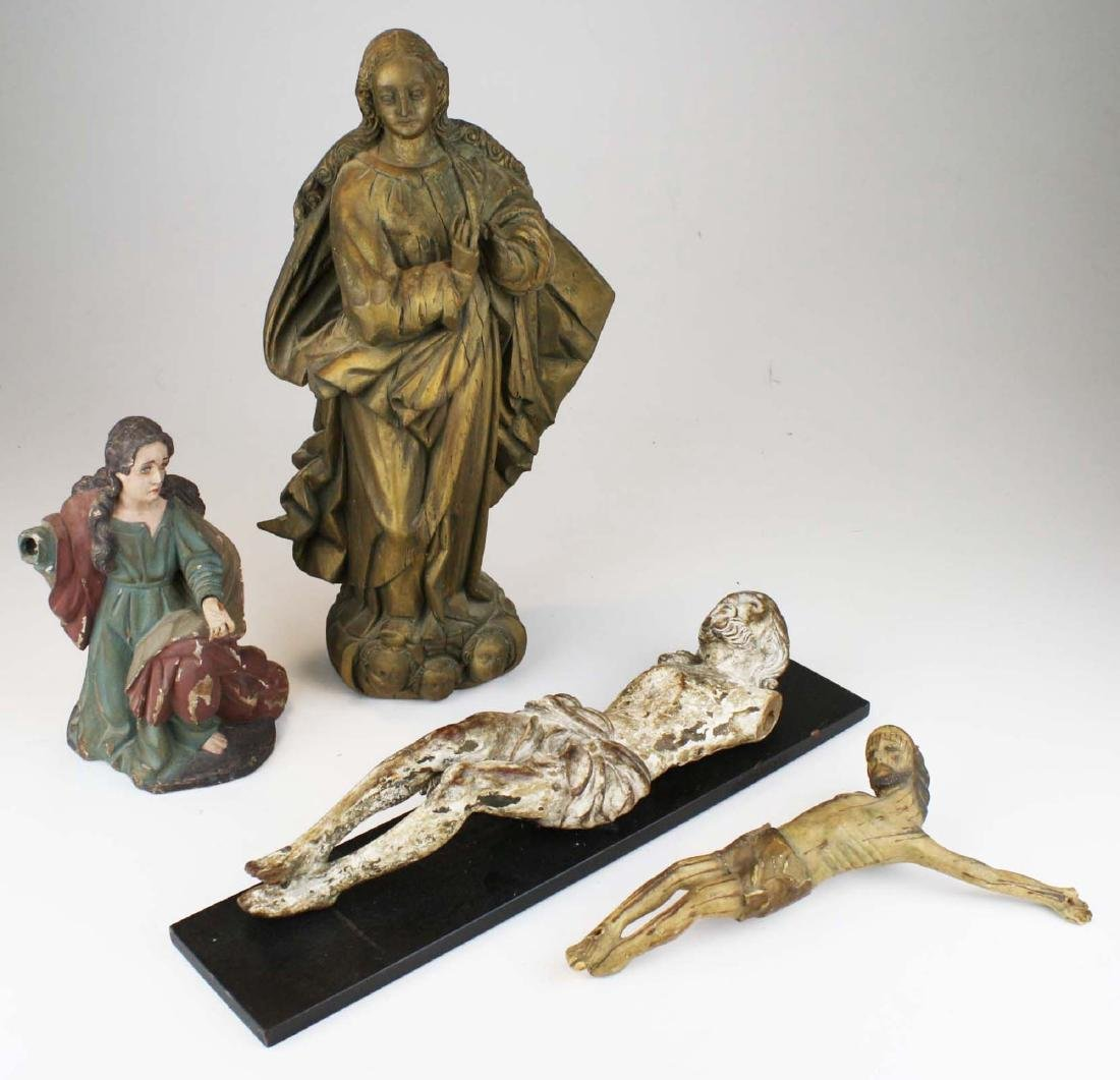 late 19th- early 20th c Roman Catholic carvings