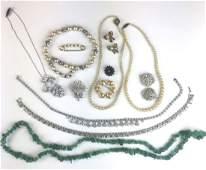 Lot of costume  jade jewelry