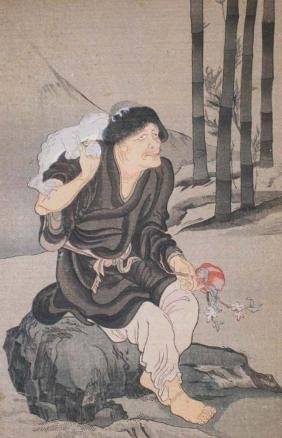 early- mid 20th c Japanese ukiyo-e  by Ganki