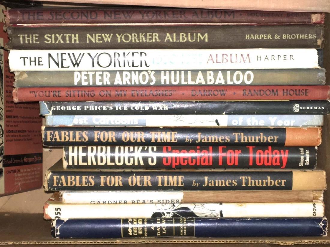 1940's cartoon books- Thurber, New Yorker, etc