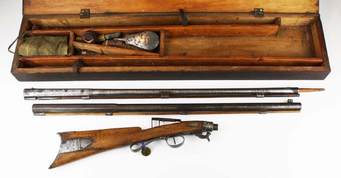 Cased Nicanor Kendall, Windsor VT Underhammer gun with