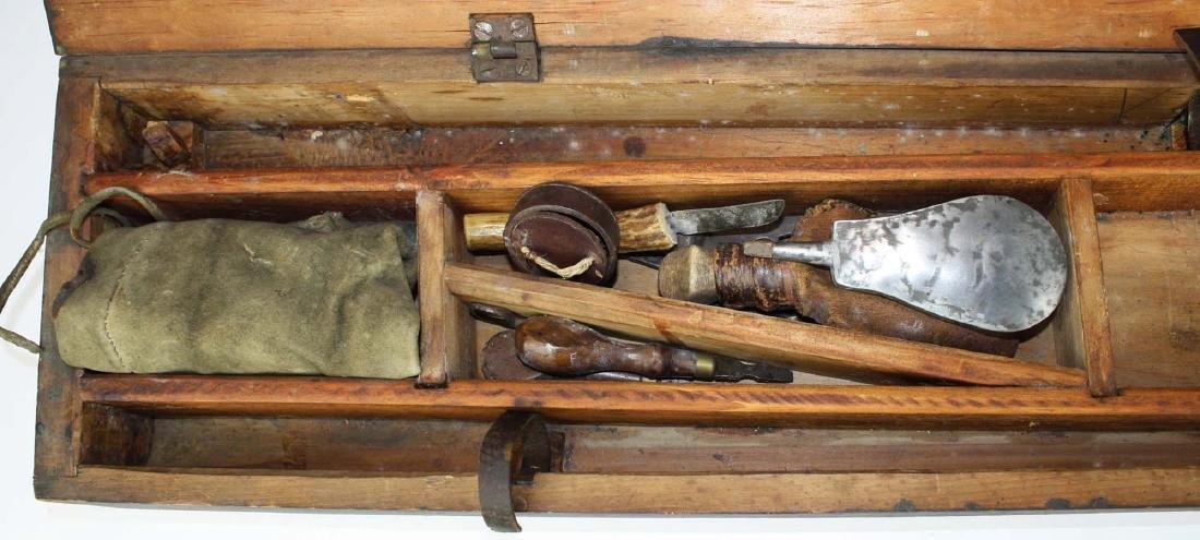 Cased Nicanor Kendall, Windsor VT Underhammer gun with - 3