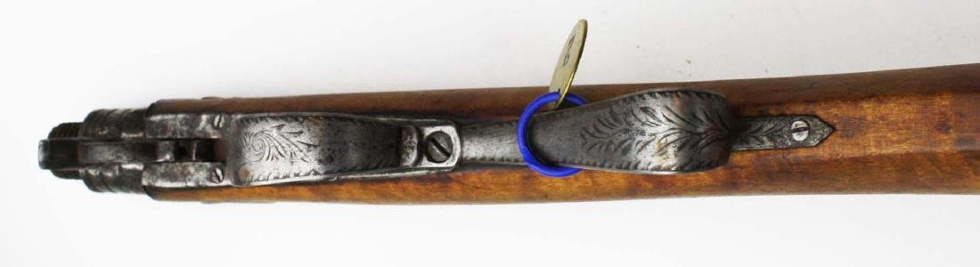 Cased Nicanor Kendall, Windsor VT Underhammer gun with - 4