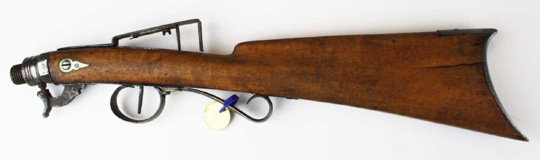 Cased Nicanor Kendall, Windsor VT Underhammer gun with - 5
