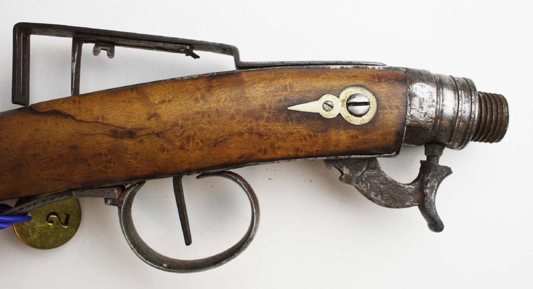 Cased Nicanor Kendall, Windsor VT Underhammer gun with - 6