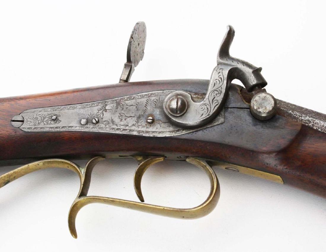 S.S. Baird Chittenden VT percussion rifle .34. Cal.