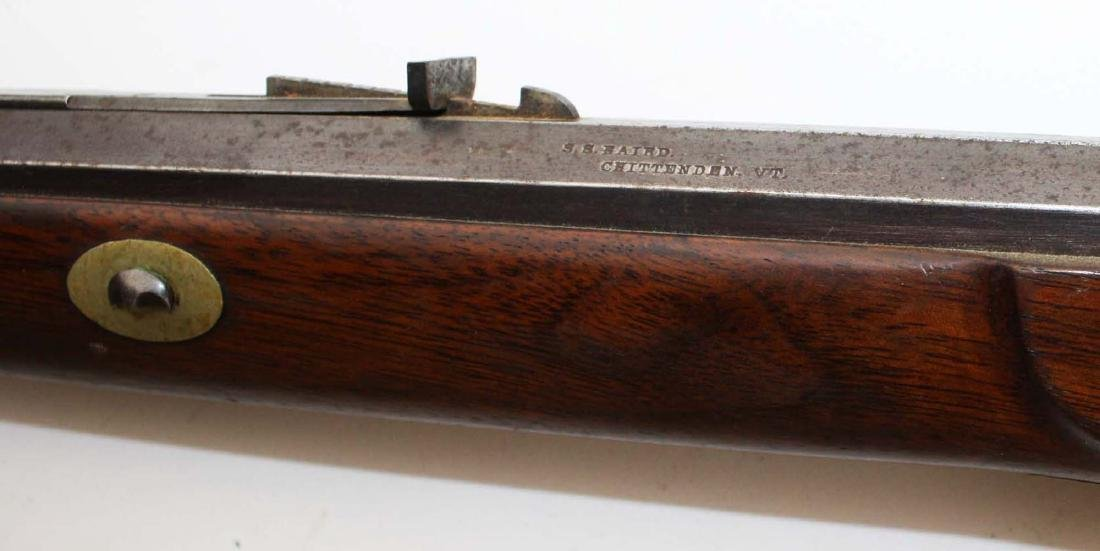 S.S. Baird Chittenden VT percussion rifle .34. Cal. - 7