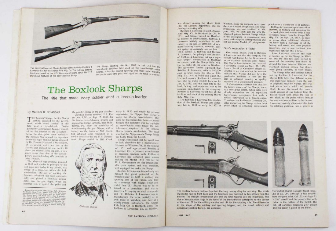 Rare Engraved Sharps 1851 Boxlock Carbine- Robbins and - 10