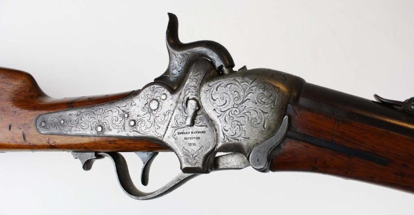 Rare Engraved Sharps 1851 Boxlock Carbine- Robbins and
