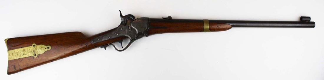 Rare Engraved Sharps 1851 Boxlock Carbine- Robbins and - 3