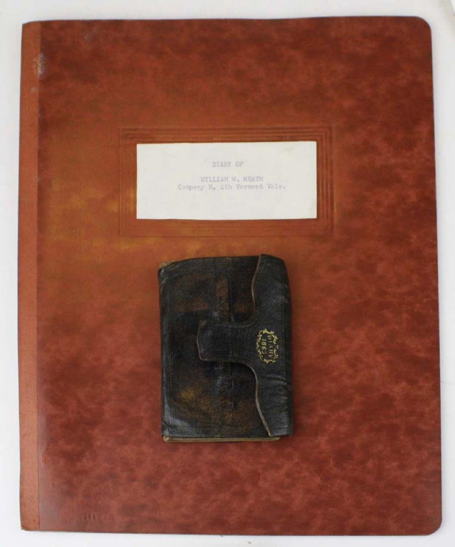 1/4 plate tintype of Pvt Wm. Heath with diary and Bible - 3