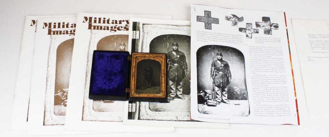 1/4 plate tintype of Pvt Wm. Heath with diary and Bible - 4