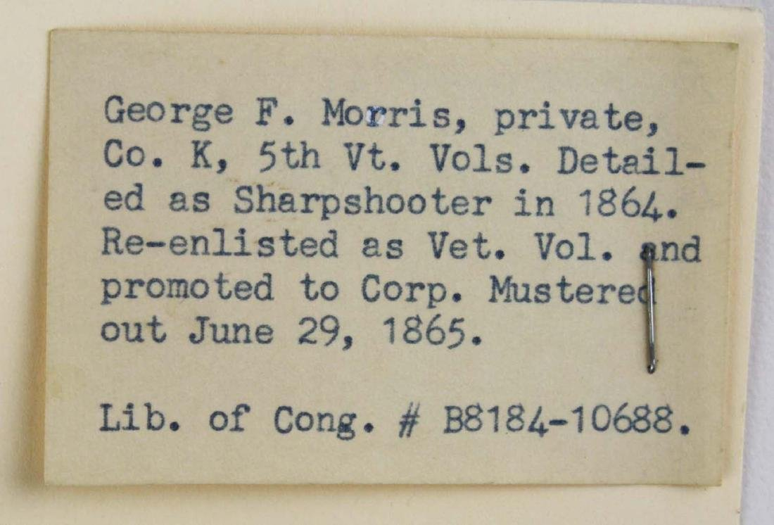1/6th plate tintype Private George F Morris Co K 5th VT - 4