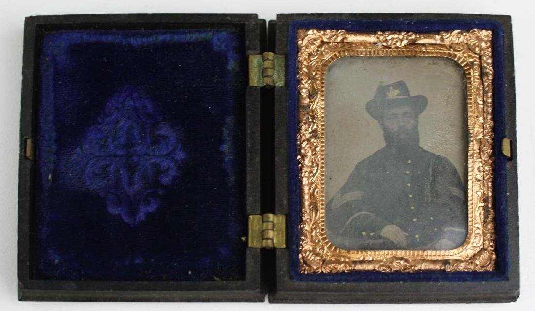 1/8th plate tintype of Sgt. Joseph Averill 6th VT